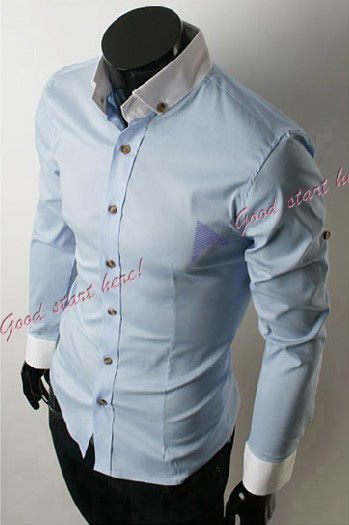 Leisure Style 3 Colors Mens Casual Shirt Slim Fit Stylish Dress Shirts